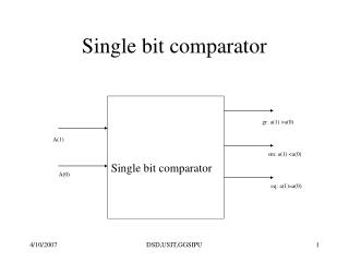 Single bit comparator