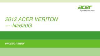 2012 ACER VERITON  ---- N2620G