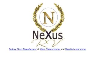 New Class C RVs at NeXus RV