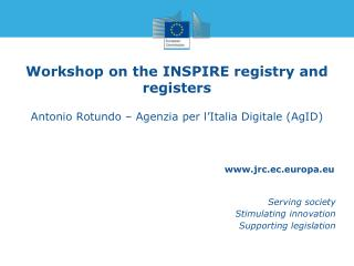 Workshop on the INSPIRE registry and registers