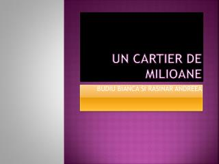 UN CARTIER DE  MILIOANE