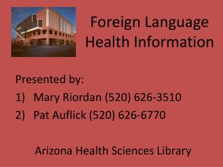 Foreign Language Health Information