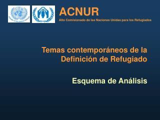 ACNUR Alto Comisionado de las Naciones Unidas para los Refugiados