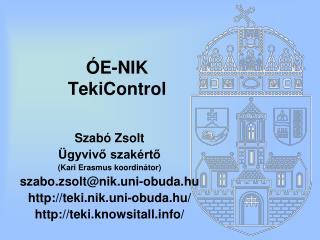 ÓE-NIK TekiControl