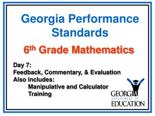 Georgia Performance Standards
