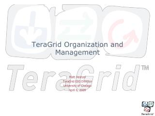TeraGrid Organization and Management