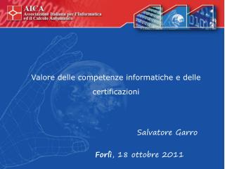 Valore delle competenze informatiche e delle certificazioni