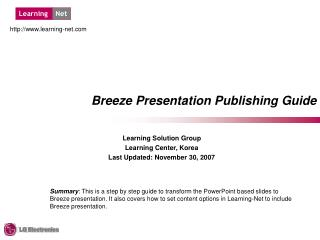Breeze Presentation Publishing Guide