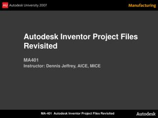 Autodesk Inventor Project Files Revisited