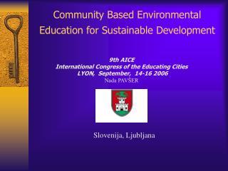 Community Based Environmental Education for Sustainable Development