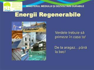 Energii Regenerabile