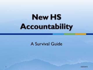 New HS Accountability