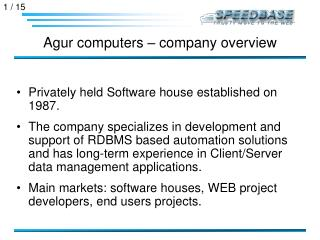 Agur computers – company overview