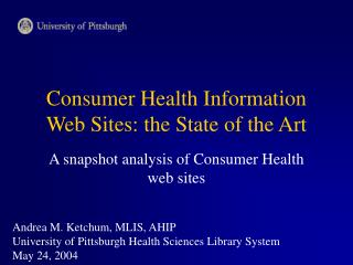 Consumer Health Information Web Sites: the State of the Art