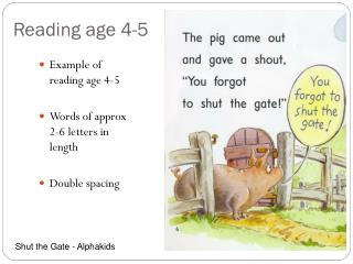 Reading age 4-5
