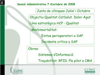 Sessió Administrativa 7 d'octubre de 2008
