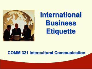 COMM 321 Intercultural Communication