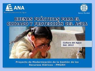 BUENAS PRÁCTICAS PARA EL CUIDADO Y PROTECCIÓN DEL AGUA