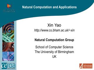 Natural Computation and Applications