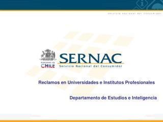 Reclamos en Universidades e Institutos Profesionales