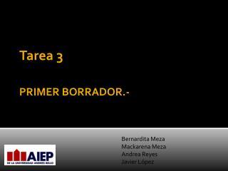 PRIMER BORRADOR.-