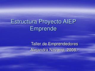 Estructura Proyecto AIEP Emprende