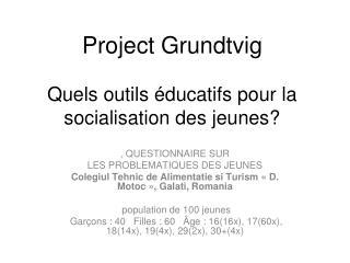 Project Grundtvig Quels outils éducatifs pour la socialisation des jeunes?