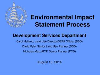 Environmental Impact Statement Process