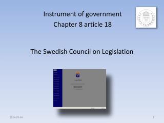 The Swedish Council on Legislation