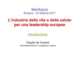 """Introduzione Claudio De Vincenti Università di Roma """"La Sapienza"""" e Nens"""