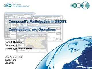 Compusult's Participation in GEOSS Contributions and Operations