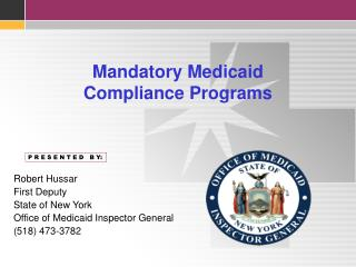 Mandatory Medicaid Compliance Programs