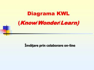 Diagrama KWL ( Know / Wonder / Learn )