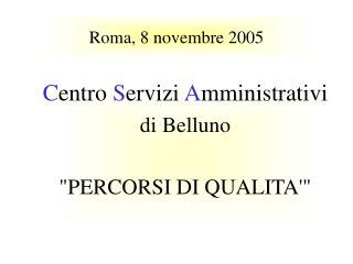 Roma, 8 novembre 2005