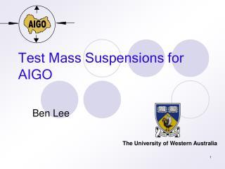 Test Mass Suspensions for AIGO