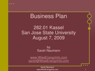 Wise Energy Information Services  Sarah Naumann WiseEnergyInfo Sarah@WiseEnergy