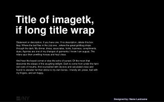 Title of imagetk,  if long title wrap