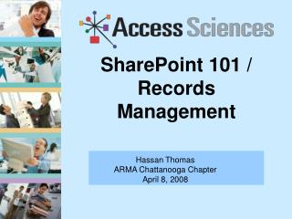 SharePoint 101 / Records Management