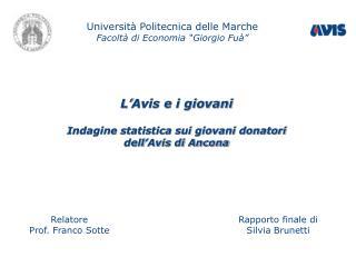 """Università Politecnica delle Marche Facoltà di Economia """"Giorgio Fuà"""""""