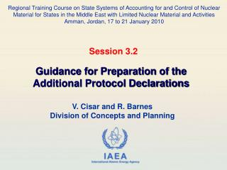 V. Cisar and R. Barnes Division of Concepts and Planning