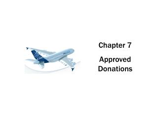 Chapter 7 Approved Donations