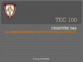 TEC 100