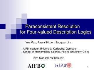 Paraconsistent Resolution  for Four-valued Description Logics
