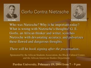 Gorfu Contra Nietzsche