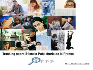 Tracking sobre Eficacia Publicitaria de la Prensa