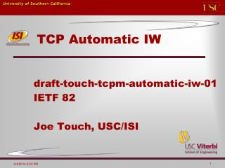 TCP Automatic IW