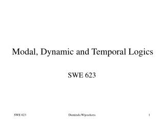 Modal, Dynamic and Temporal Logics
