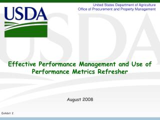 Effective Performance Management and Use of Performance Metrics Refresher