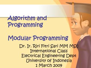 Algorithm and Programming Modular Programming