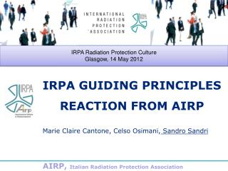 IRPA GUIDING PRINCIPLES REACTION FROM AIRP